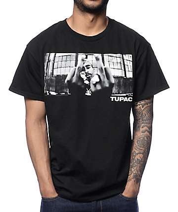 Bravado 2Pac 2 Birds camiseta negra
