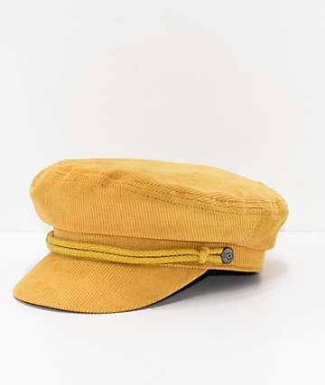 Brixton Ashland gorra de pana amarilla