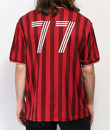 Brixton Aston Red Striped Knit Jersey