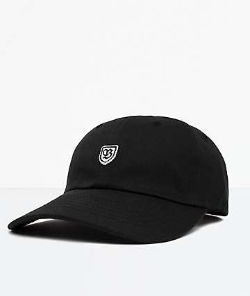 Brixton B-Shield II Black Strapback Hat