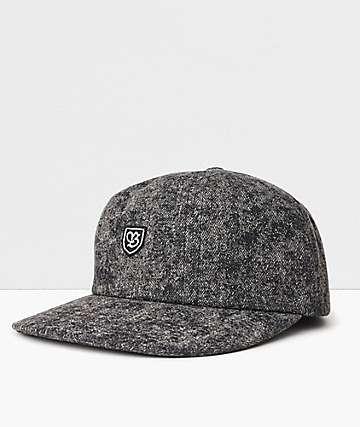 Brixton B-Shield III Black Acid Wash Strapback Hat