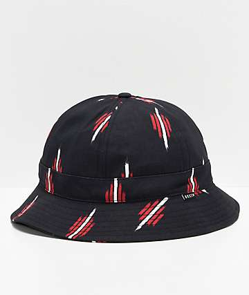 Brixton Banks II Black & Red Bucket Hat