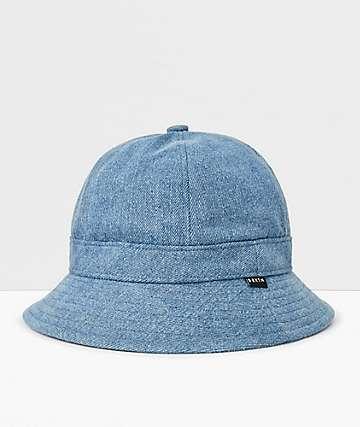 Brixton Banks II Blue Washed Denim Bucket Hat