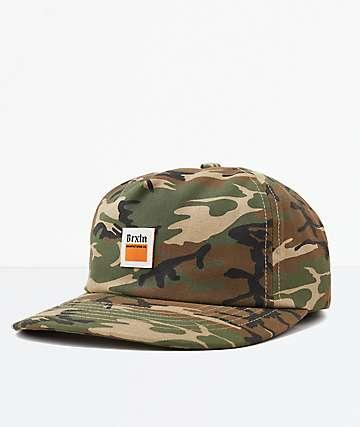 Brixton Beer LP Camo Snapback Hat