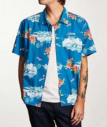 Brixton Bueller Blue Woven Shirt