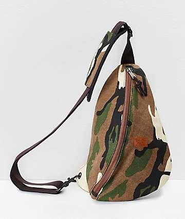 Brixton Chicago Camo Sling Crossbody Bag