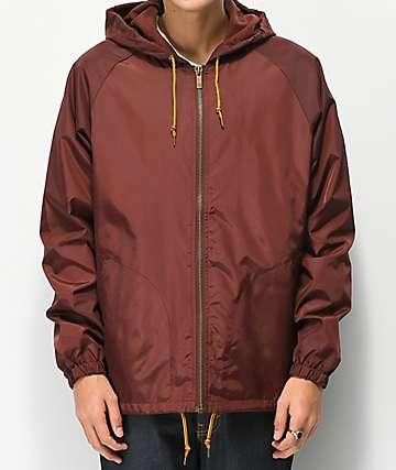 Brixton Claxton Chestnut Red Windbreaker Jacket 364c5a4d7c4