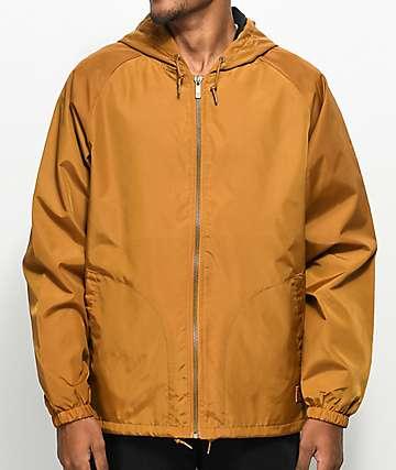 Brixton Claxton Copper chaqueta cortavientos con capucha