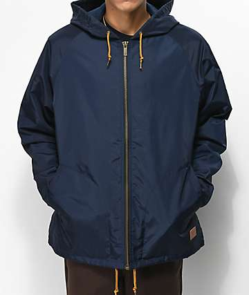 Brixton Claxton Navy Hooded Jacket