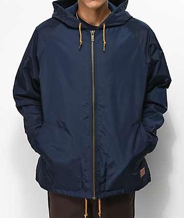 Brixton Claxton chaqueta con capucha azul marino