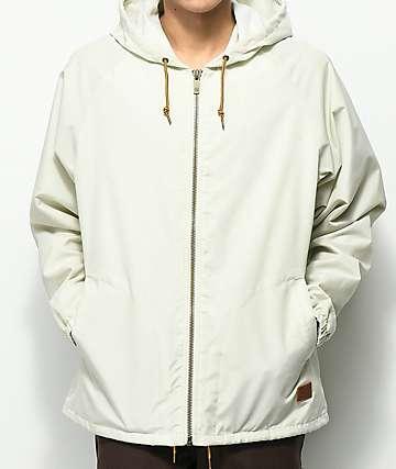Brixton Claxton chaqueta cortavientos con capucha en blanquecino