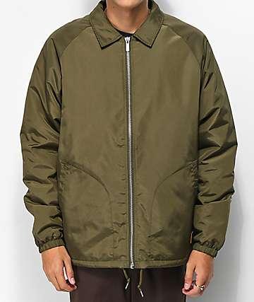 Brixton Claxton chaqueta oliva con forro de sherpa