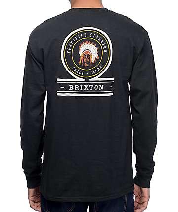 Brixton Crow Black Long Sleeve T-Shirt