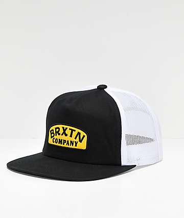Brixton Dulla Black, Yellow & White Mesh Snapback Hat