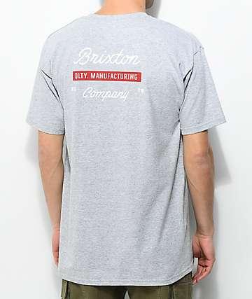 Brixton Dwell Heather Grey T-Shirt