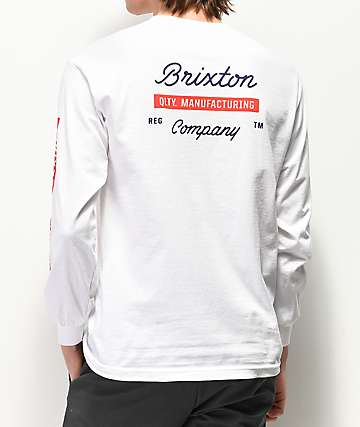 Brixton Dwell White Long Sleeve T-Shirt