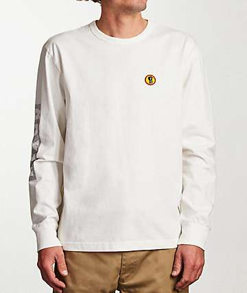 Brixton Fang White Long Sleeve T-Shirt