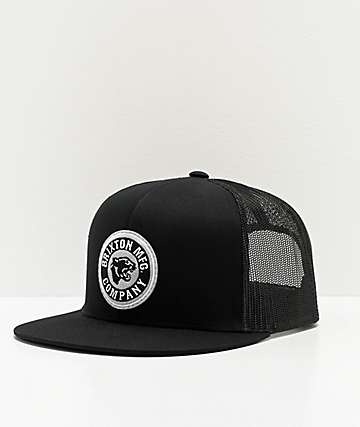 Brixton Forte Black Trucker Hat