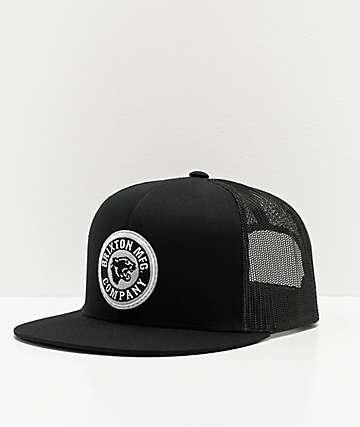 Brixton Forte Black Trucker Hat