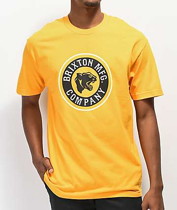 Brixton Forte Gold T-Shirt
