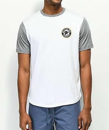 Brixton Forte III camiseta gris y blanca