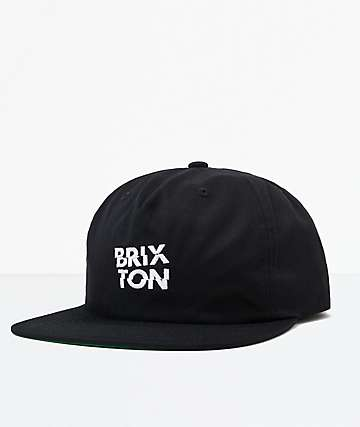 Brixton Fragment MP Black & White Snapback Hat
