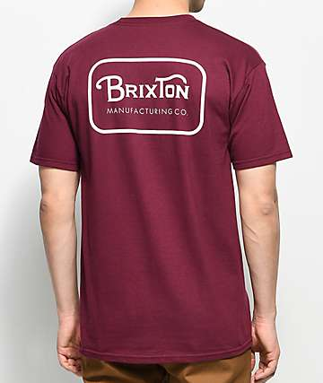 Brixton Grade Burgundy T-Shirt