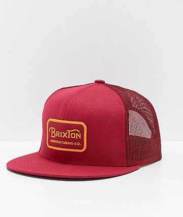Brixton Grade Burgundy Trucker Hat