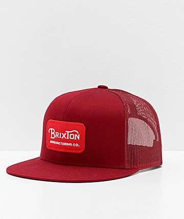 Brixton Grade Cardinal Red Trucker Hat