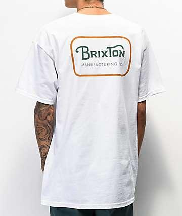 Brixton Grade White & Gold T-Shirt
