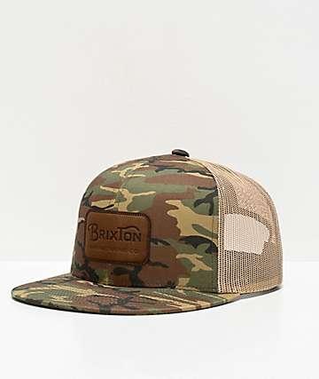 de51fb9e7765c3 Brixton Grade Woodland Camo Trucker Hat