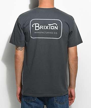 Brixton Grade camiseta en color carbón