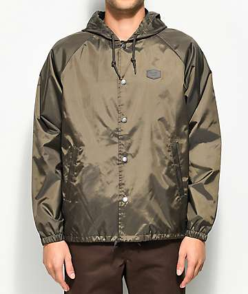 Brixton Hark Charcoal Coaches Jacket