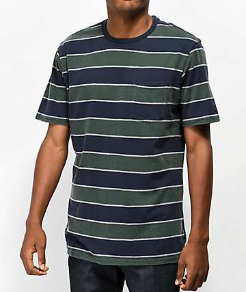 Brixton Hilt Navy Striped T-Shirt