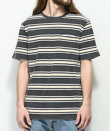 Brixton Hilt camiseta negra a rayas