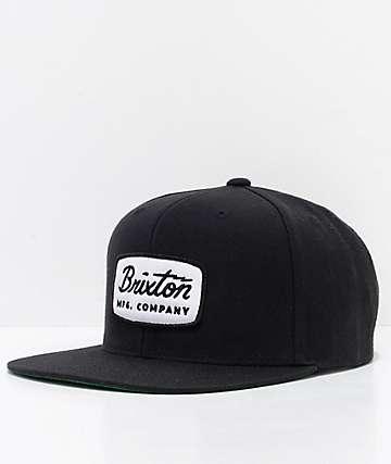 Brixton Jolt Black Snapback Hat