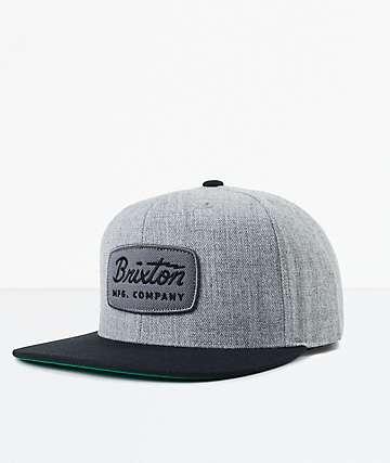 Brixton Jolt Grey & Black Snapback Hat