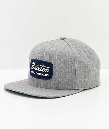 Brixton Jolt Navy Patch Grey Snapback Hat