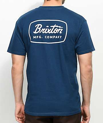 Brixton Jolt camiseta en azul marino