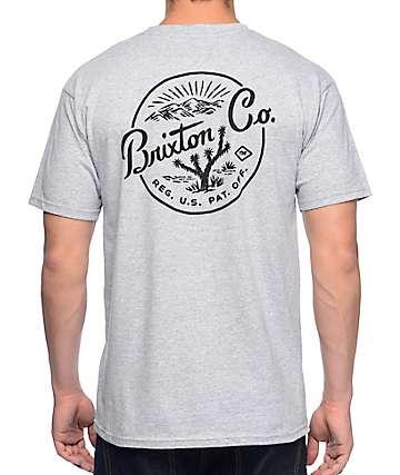 Brixton Joshua camiseta gris jaspeado