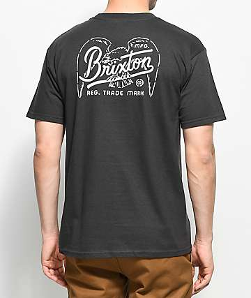 Brixton Kestrel Washed Black T-Shirt