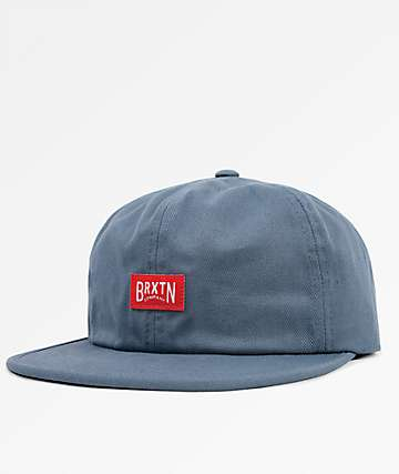 Brixton Langley Grey Blue Strapback Hat