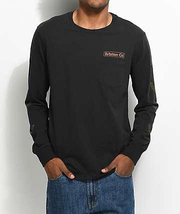 Brixton Maron Black Washed Long Sleeve T-Shirt