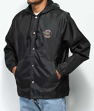 Brixton Mercury Black Hooded Coaches Jacket