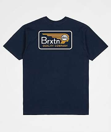 Brixton Messenger Navy T-Shirt