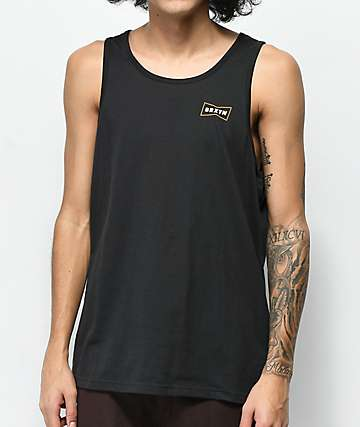 Brixton Missouri Black Tank Top