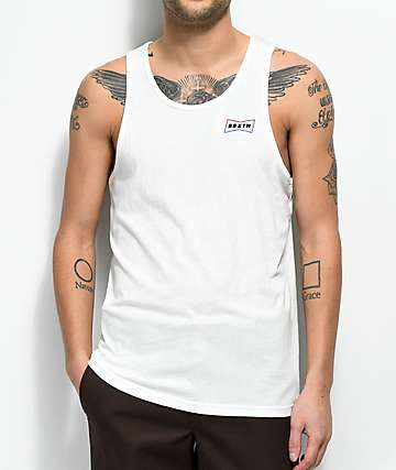 Brixton Missouri White Tank Top