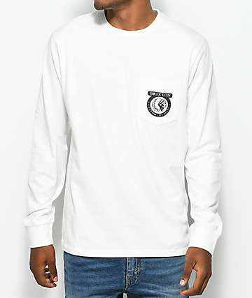 Brixton Native camiseta blanca de manga larga