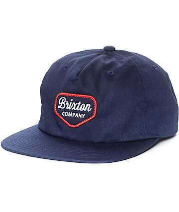 Brixton Navato Navy Snapback Hat