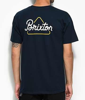 Brixton Newbury Navy T-Shirt